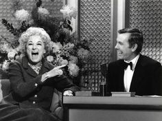Phyllis Diller with Johnny Carson.