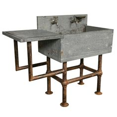 Industrial Soapstone Sink | From a unique collection of antique and modern bathroom fixtures at http://www.1stdibs.com/furniture/building-garden/bathroom-fixtures/