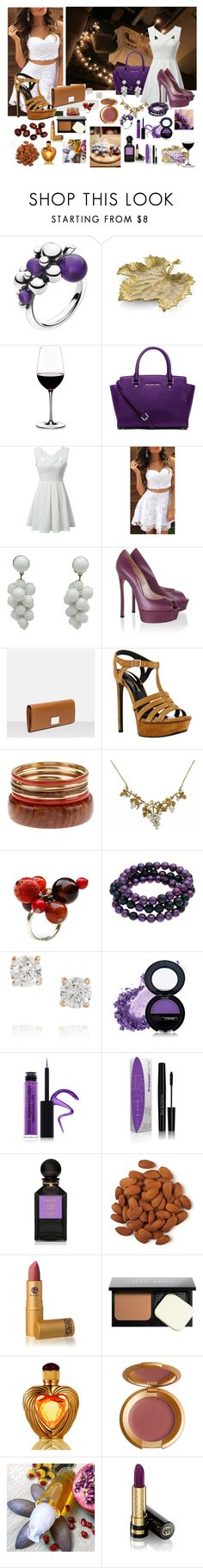 """""""##12"""" by edin-levic ❤ liked on Polyvore featuring Georg Jensen, Michael Aram, WALL, Riedel, Salsa, MICHAEL Michael Kors, Casadei, Yves Saint Laurent, Sipora Aguia and Honora"""