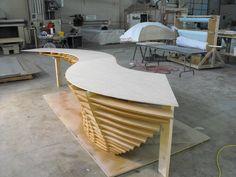 DSCF0124 Osb Plywood, Mdf Wood, Plywood Furniture, Sofa Furniture, Furniture Design, Office Table Design, Reception Desk Design, Solid Surface, Modern Table