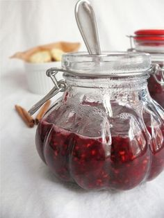 Raspberry, Ginger and Cinnamon Jam. I would use pectin & honey instead of granulated sugar.