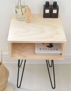 This raw wood nightstand is custom-made to order for only $99.