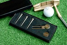 Including golf tees, a pitch repairer and a golf marker, our golf gift set can be personalised with up to three initials. Home Putting Green, Golf Travel Case, Golf Christmas Gifts, Ladies Golf, Women Golf, Golf Party, Womens Golf Shoes, Golf Gifts, Personalized Wedding Gifts