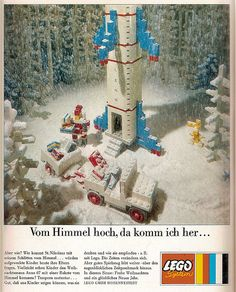 Vom Himmel hoch, da komm ich her… Christmas advert in German toy magazine, Das Spielzeug 1967 (by LEGO should, go back to how they used to advertise, I find it to be near perfection. Vintage Lego, Vintage Ads, Vintage Posters, Christmas Adverts, German Toys, Octopus Art, Lego Toys, Good Times Roll, Ol Days