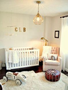 Sweet baby nursery interior