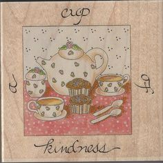 A Cup of Kindness quoted on this charming stamp! Beautiful to make your mom a card this mothers day or your own inspirational creation!  Just click above to view my ebay items if  your interested I have more crafts available! Thanks for looking!