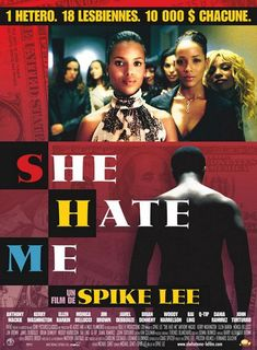 She Hate Me , starring Anthony Mackie, Kerry Washington, Ellen Barkin, Monica Bellucci. Fired from his job for exposing corrupt business practices, a former biotech executive turns to impregnating wealthy lesbians for profit. #Comedy #Drama