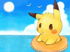Pikachu in Rubber ring fan art