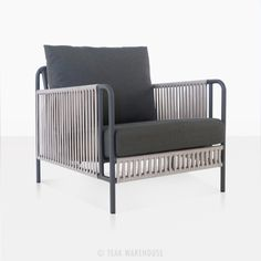 Fontana Outdoor Rope Club Chair Patio Lounge Furniture Teak Warehouse is part of Patio lounge furniture The Fontana Outdoor Rope Club Chair boasts a powder coated steel frame in a swanky graphit - Patio Lounge Furniture, Best Outdoor Furniture, Patio Chairs, Outdoor Sofa, Home Furniture, Antique Furniture, Wooden Furniture, Industrial Furniture, Room Chairs