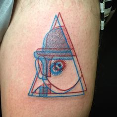 Winston the Whale - A Clockwork Orange inspired 3D tattoo @winstonthewhale