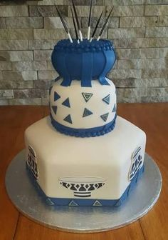 Image result for traditional african cakes Zulu Traditional Wedding, Traditional Cakes, Traditional Decor, Traditional Dresses, Blaze Birthday Cake, African Wedding Cakes, African Cake, Zulu Wedding, Engagement Cakes