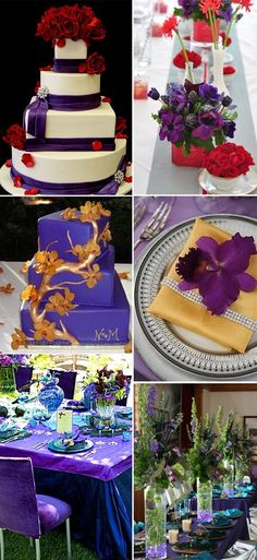 Purple and red Wedding Ideas   ... purple wedding ideas from our Pinterest Board: Purple Wedding Ideas