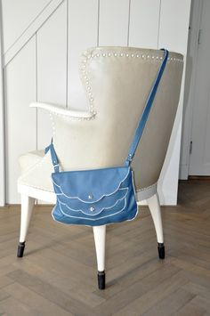 Johanna, soft jeans blue leather purse $240
