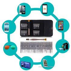 25 In 1 Obeng Torx Set Perbaikan Alat Kit Multitool Alat-alat tangan Untuk Menonton ponsel Tablet Pc Profesional Obeng Set