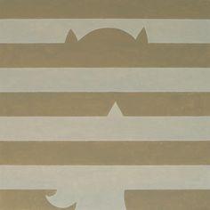 """""""Batgirl vs Agnes Martin"""" Acrylic on canvas, 26x26"""" 2015"""