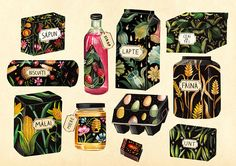 Packaging Illustrations on Behance