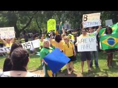 Manifestação em Boston Contra Corrupção no Brasil