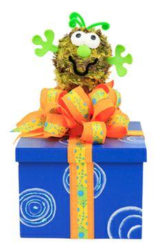 Caja de regalos para fiestas infantiles / centro de mesa / azul / Día del niño