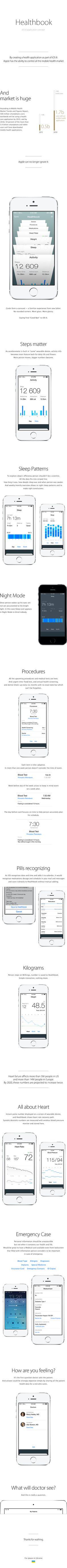 Healthbook iOS 8 concept / Valera Vasylenko