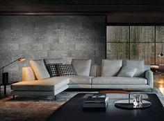 Modular sofa / contemporary / fabric / by Rodolfo Dordoni ALLEN  Minotti