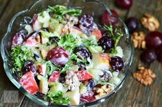 Salata Waldorf - CAIETUL CU RETETE Pasta Salad, Cobb Salad, Potato Salad, Salads, Deserts, Veggies, Potatoes, Ethnic Recipes, Food