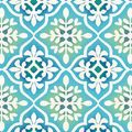Anti-Pill Fleece Fabric 58\u0022-Blue Green Tile Print,