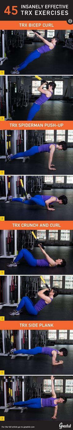 45 Insanely Effective TRX Exercises #fitness #workout #health