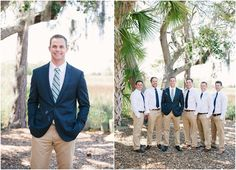 Men Wearing Any White Shirt Any Khaki Pants Groom Step Up With Khaki Suit No Tie Flip Flops