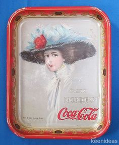 Authentic Antique 1910 Hamilton King Coca Cola Tray It's The Real Thing