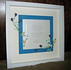 Custom Wedding Gift / Framed & Quilled Wedding by Quillique