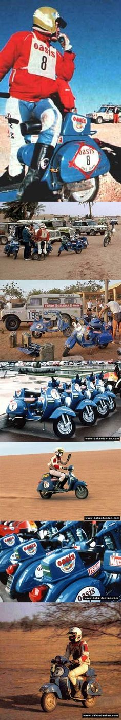 Vespas en el Paris Dakar - 1980