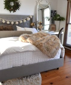 My Tufted Bed :: A Review of the Skyline Linen Nail Button Wingback