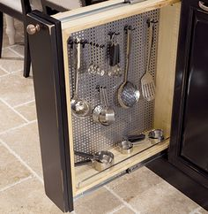 Great alternative to drawer storage for cooking utensils in the kitchen!