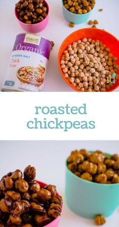 Roasted chickpeas!  The perfect way to replace nuts in lunchboxes!
