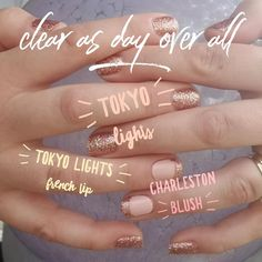 Color Street Nail Polish Strips 100% nail polish Click to request a sample or order Clear As Day Tokyo Lights Charleston Blush