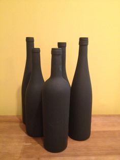 Chalkboard Wine Bottle by DIYRusticChic on Etsy, $8.00