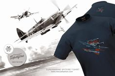RESCUEFASHION – T - shirt design Supermarine Spitfire http://www.rescuefashion.com/en/%7BT-SHIRTS%7D32-spitfire-2015-design.html