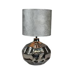 Urban Designs Chelsea 26-Inch Turtle Shell Design Nickel Table Lamp