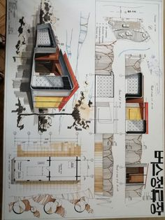 Architecture Drawing Discover Bus stop Concept Board Architecture, Interior Architecture Drawing, Architecture Presentation Board, Architecture Sketchbook, Interior Design Sketches, Architecture Plan, Drawing Interior, Interior Design Presentation, Plakat Design