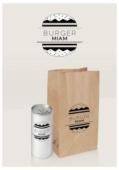 """Affiche """"Burger Miam"""" Crée par la designer graphique Elodie Griset (elodiegriset.com)  // Tout droit reservés"""
