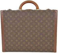 1eee2288ad9 Louis Vuitton President Hard Briefcase Suitcase Luggage Trunk Brown  Monogram Weekend Travel Bag 76% off retail
