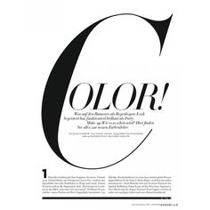 Harper's Bazaar Germany ❤ liked on Polyvore featuring article, color, text, magazine, phrase, quotes and saying
