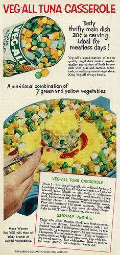 Veg-All Tuna Casserole & Shrimp Veg-All