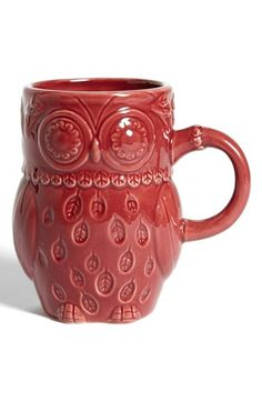 Maybe I'll start collecting owl mugs...... Gibson Owl Mug available at #Nordstrom
