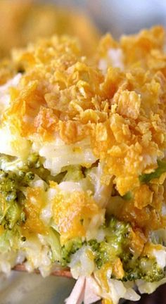 Cheesy Chicken Broccoli and Rice Casserole Recipe