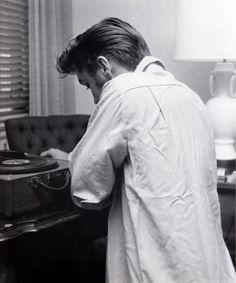 Elvis with his vinyl.