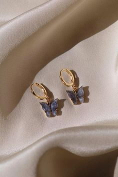 Midnight Butterfly Earrings Gold-Plated Butterfly Earrings At Chvker, we love bu. - Midnight Butterfly Earrings Gold-Plated Butterfly Earrings At Chvker, we love butterfly jewelry des - Ear Jewelry, Cute Jewelry, Jewelry Accessories, Jewelry Design, Jewelry Ideas, Designer Jewelry, Jewelry Box, Jewelry Making, Jewelry Supplies