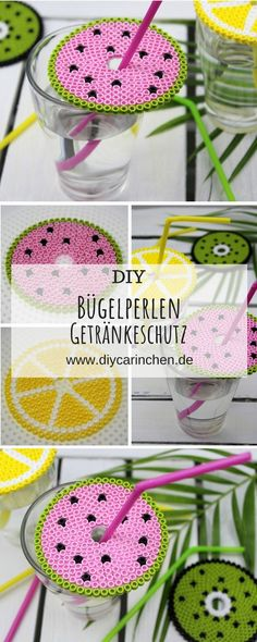 Sommerliches DIY: Simply make yourself a drink protection lid made of iron-on beads in 3 summ. Sommerliches DIY: Simply make yourself a drink protection lid made of iron-on beads in 3 summery motifs - super wasp protection Diy Décoration, Easy Diy, Make Your Own, Make It Yourself, How To Make, Diy Car, Farmhouse Style Decorating, Diy Crafts To Sell, Sell Diy