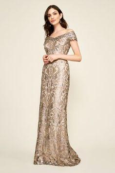 Tadashi Shoji Textured Lace Mermaid Gown Carmine-Size 6 F#102