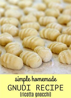 This isnt the typical potato gnocchi but it is a lighter version made with ricotta known as gnudi. Simple Homemade Gnudi Recipe by jenwardo Read Recipes Using Ricotta Cheese, Gnudi Recipe, Recipe Using Ricotta, Gnocchi Recipes, Recipe Using Potato Flour, Ricotta Gnocchi, Tortellini, Mets, Al Dente